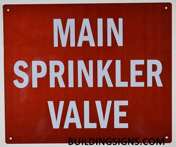 MAIN SPRINKLER VALVE SIGNS