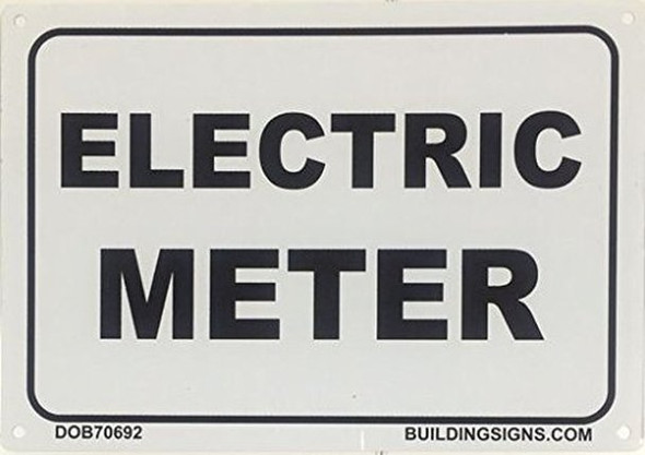 ELECTRIC METER SIGN