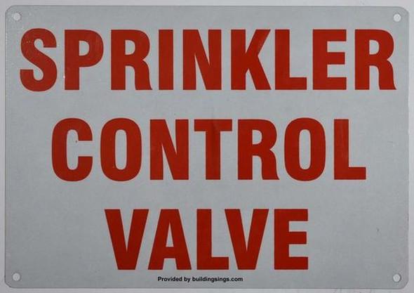 Sprinkler Control Valve Sign