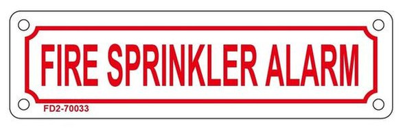 FIRE SPRINKLER ALARM SIGN