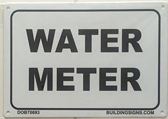 WATER METER SIGN (WHITE, ALUMINIUM )