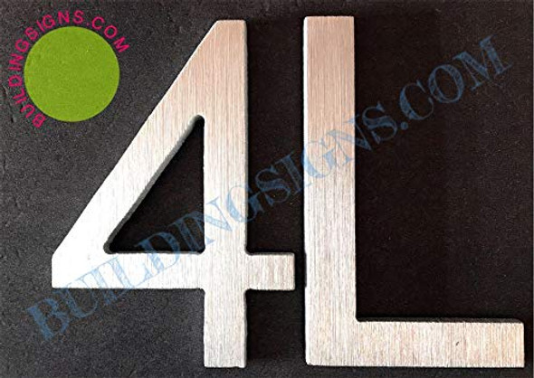 Apartment Number Sign 4L