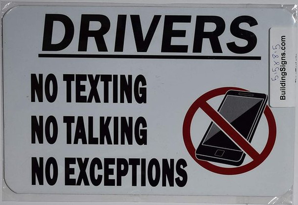 No cell phones and smartphones in the car swhile driving ign