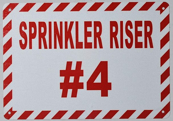 Sprinkler Riser number sign