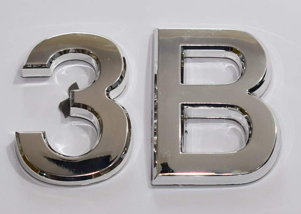 apartment 3b aluminium sign
