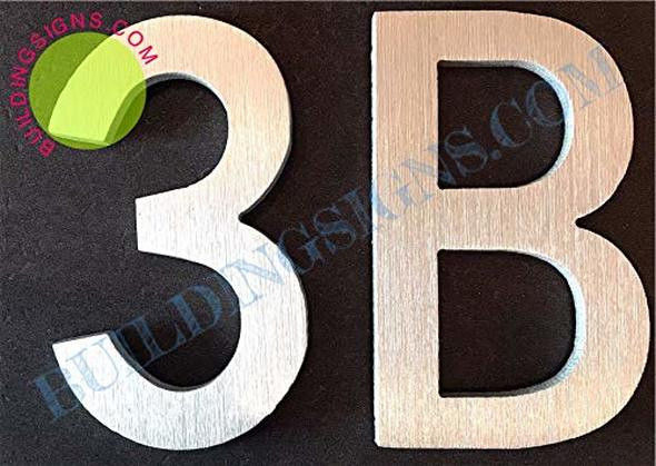 Apartment Number 3B Sign/Mailbox Number Sign  Door Number