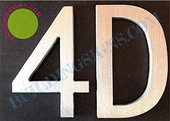Apartment Number Sign 4d