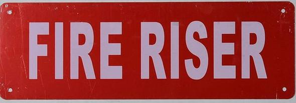 FIRE Riser Sign
