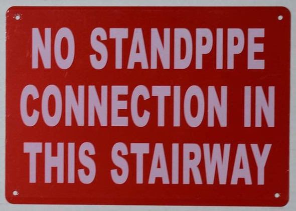 NO Standpipe Connection in This Stairway