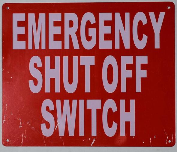 Emergency Shut-Off Switch Sign