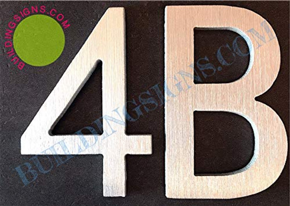 Apartment Number Sign 4B