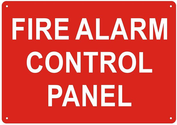 FIRE Alarm Control Panel Sign