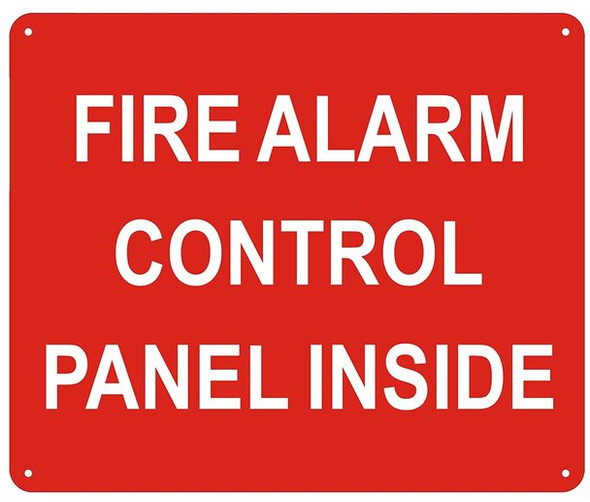 FIRE Alarm Control Panel Inside Sign