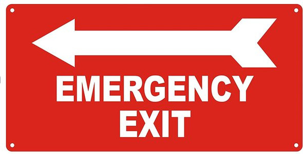 EMERGENCY EXIT WITH ARROW LEFT