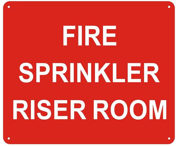 FIRE Sprinkler Riser Room -(red Reflective !!! Aluminum, )
