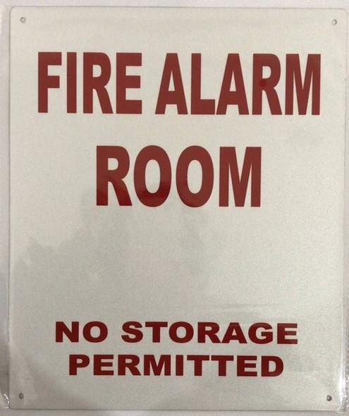 FIRE Alarm Room Sign (White,Reflective !!! Aluminum )