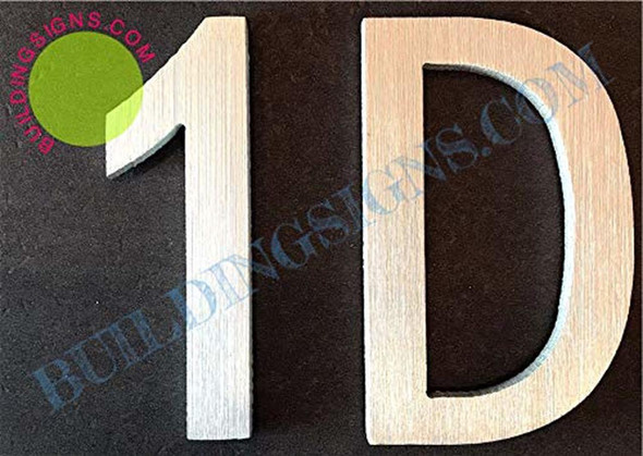 Apartment Number 1D Sign/Mailbox Number Sign, Door Number Sign. (Silver,3D, Size 2.75 x 1.75, Comes with Double Sided Tape)- The Maple line