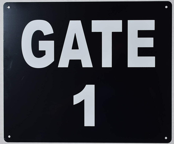 gate number 1 sign