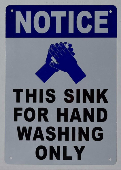 This Sink for Hand Washing ONLY Sign with English Text and Symbol Sign