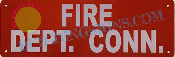 dob Fire Department Connection Sign