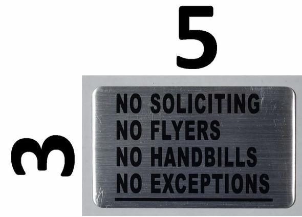 NO SOLICITING sign