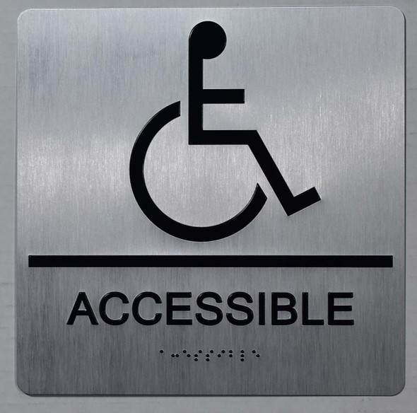 ACCESSIBLE Sign -Tactile Signs-The Sensation line Ada sign