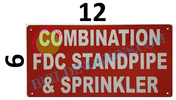 Combination FDC Standpipe and Sprinkler Sign