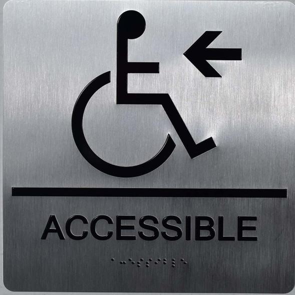 ACCESSIBLE Left Arrow Sign Ada Sign