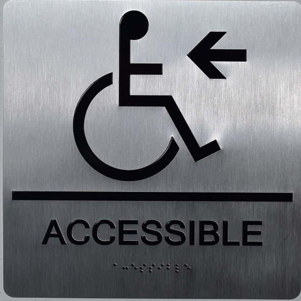ACCESSIBLE LEFT ARROW SIGN ada