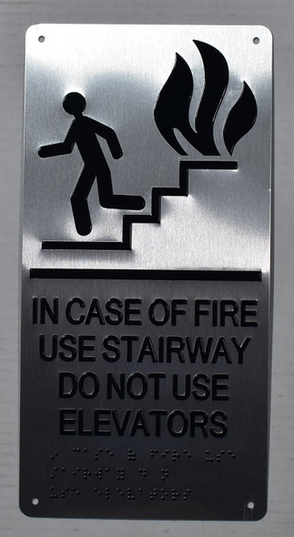 Silver In CASE of FIRE USE Stairway DO NOT USE Elevator