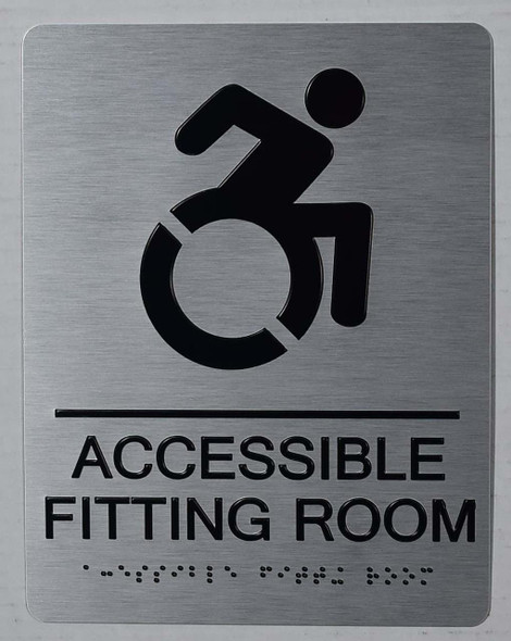 WHELCHAIR ACCESSIBLE FITTING ROOM SIGN