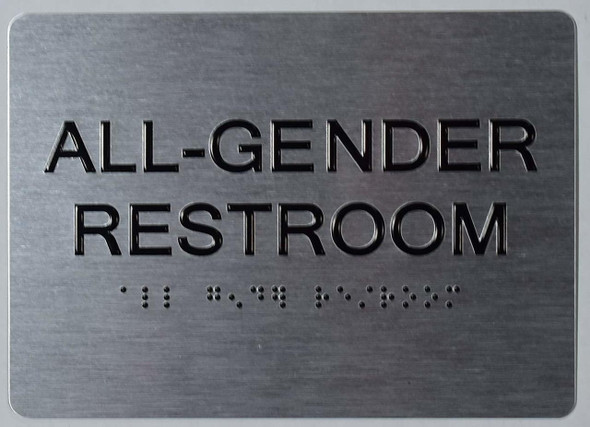 All Gender Restroom  -Tactile s The Sensation line