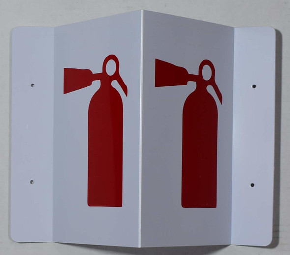 SIGNAGE FIRE Extinguisher Symbol 3D Projection /FIRE Extinguisher Symbol Hallway -Les Deux cotes line