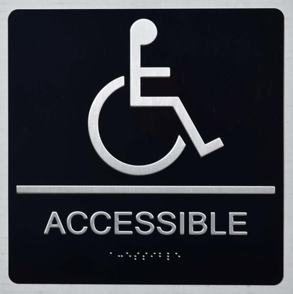 ACCESSIBLE Sign -Tactile Signs Tactile Signs  The Sensation line Ada sign