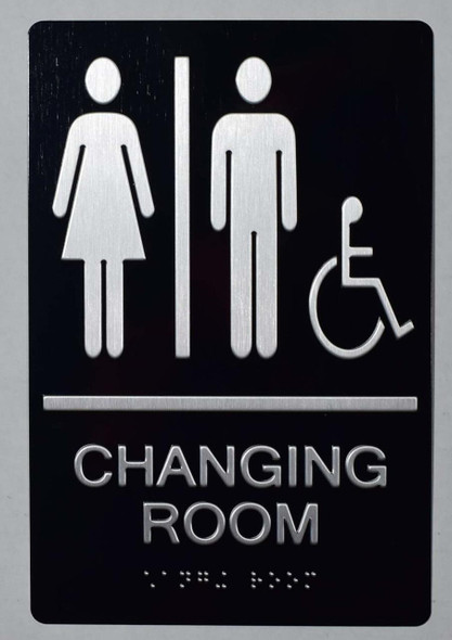 ACCESSIBLE UNISEX CHANGING ROOM SIGN