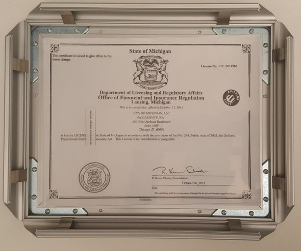 Business license frame Michigan