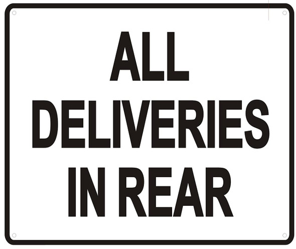 ALL DELIVERIES IN REAR Signageage-WITHOUT IMAGE