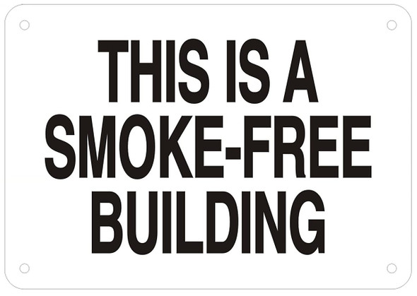 SIGN THIS IS A SMOKE-FREE BUILDING