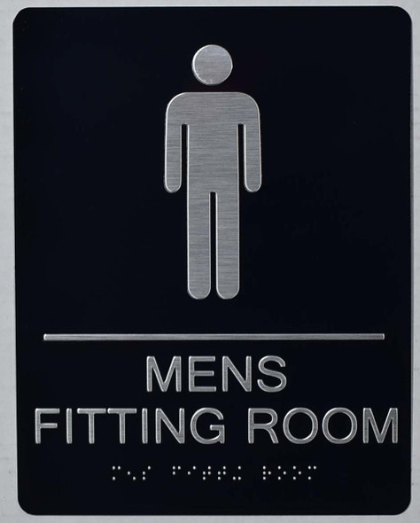 Men'S Fitting Room Sign -Tactile Signs-The Sensation line Ada sign