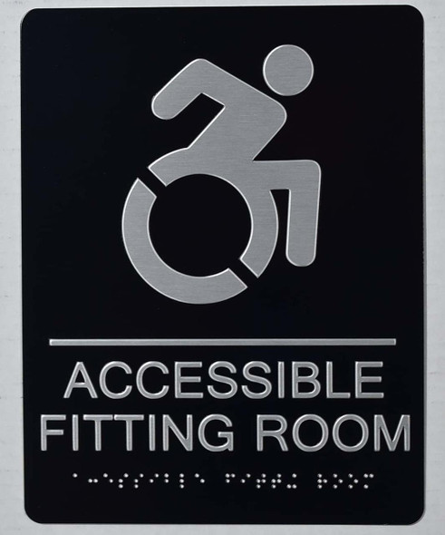 ACCESSIBLE Fitting Room Sign -Tactile Signs-The Sensation line Ada sign