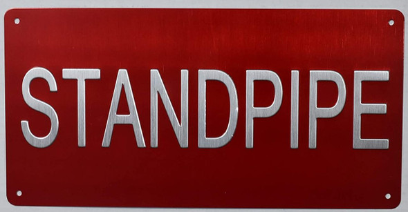 Standpipe Sign -Tactile Signs  standpipe raised letter sign -The Sensation line Ada sign