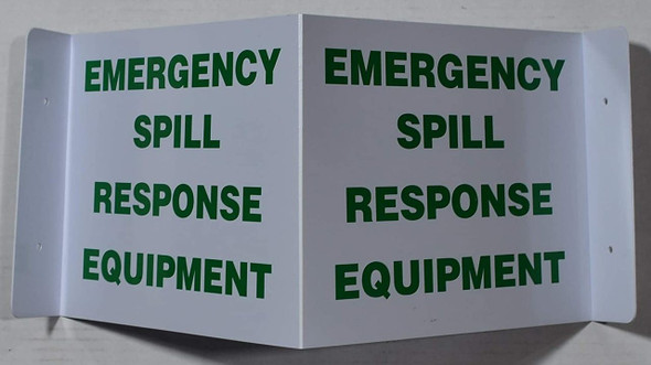 Emergency Spill Response EquipmentD Projection Sign/Emergency Spill Response Equipment Hallway Sign