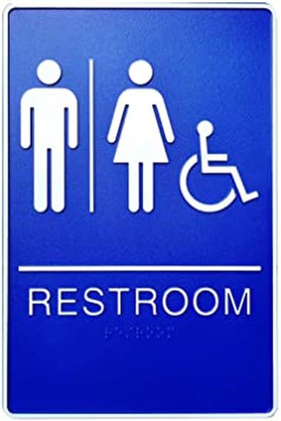 ADA Unisex Bathroom Restroom Sign.