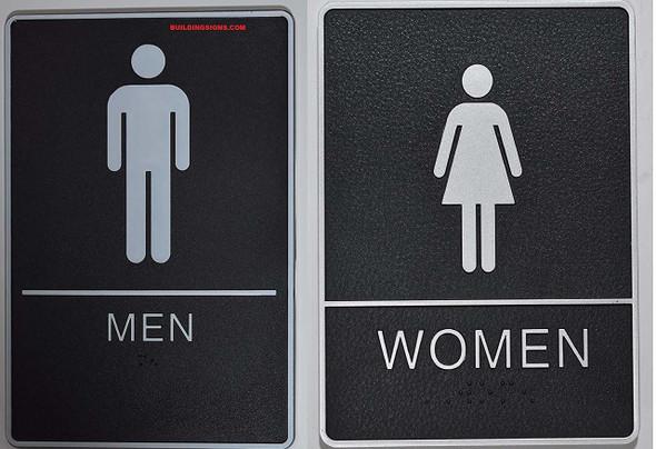ADA Men & Women Restroom  with Tactile Graphic - Tactile s  The Standard ADA line
