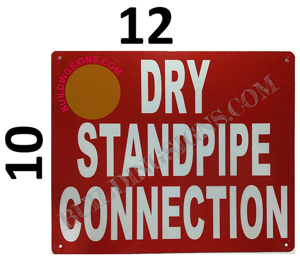 Dry Standpipe Connection Sign