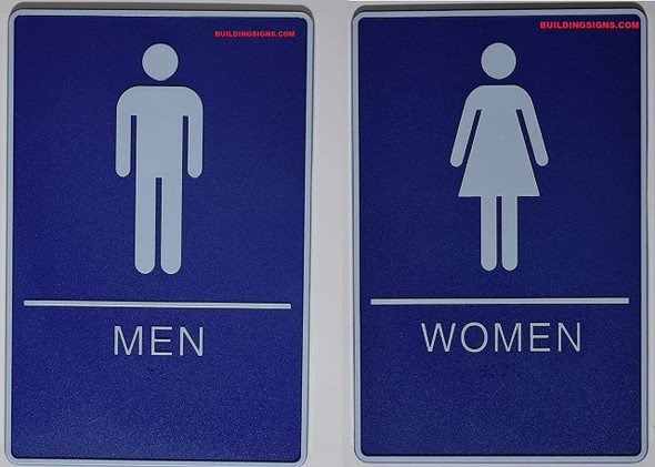 ADA MEN & WOMEN Restroom Sign