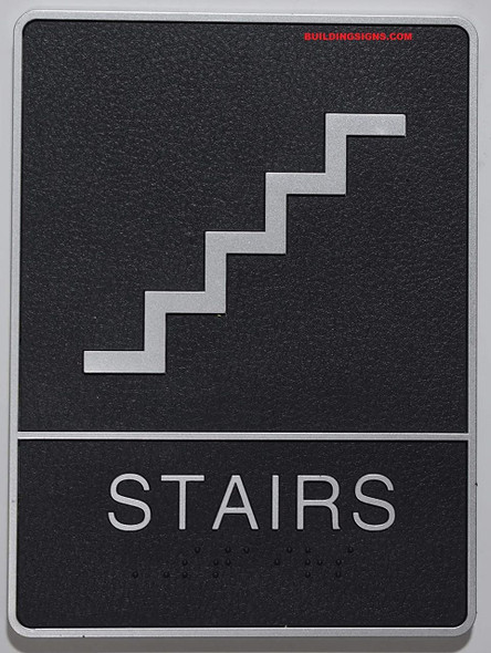 ADA Braille Stair  -Tactile s  The Leather Sheffield ADA line