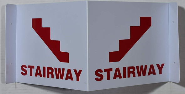 Stairway 3D Projection /Stairway Hallway  (White/red,Plastic)-Les Deux cotes line