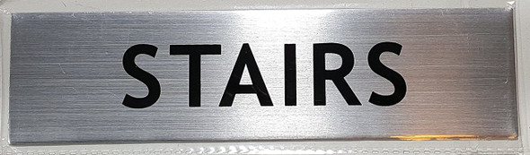 STAIRS SIGN - -BRUSHED ALUMINUM