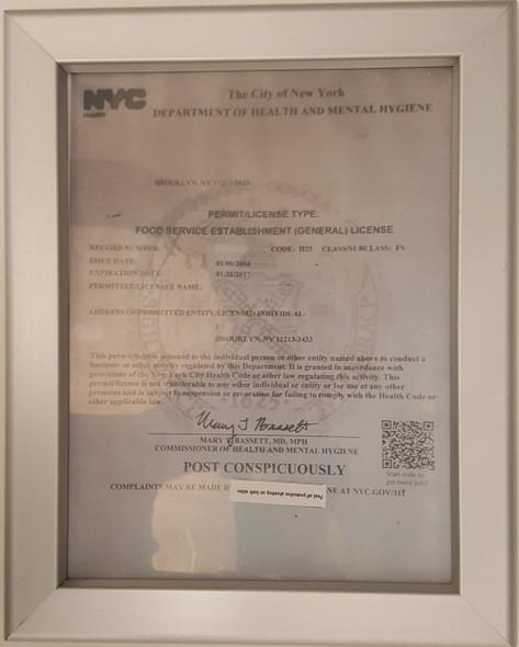 NYC Food Service Establishment Frame heavy duty !!!